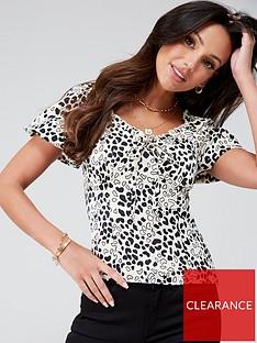 michelle-keegan-printed-satin-milkmaid-blouse-animal-print