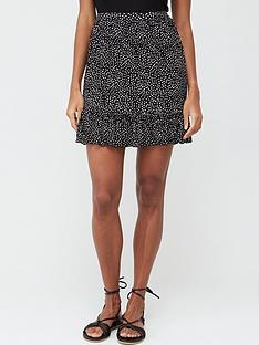 v-by-very-frill-hem-jersey-mini-skirt-spot-print