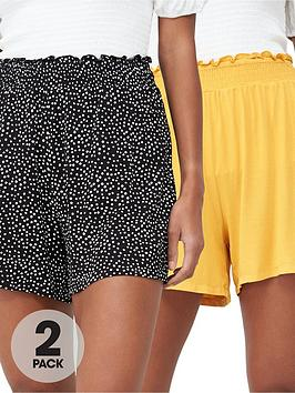 v-by-very-2-pack-shirred-hem-jersey-shorts-mustardspot
