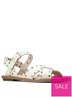 clarks-willow-gild-leather-flat-sandal-whitenbsp