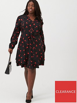 oasis-curve-rose-bud-shirtdress-multi-black