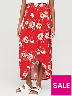 v-by-very-petite-wrap-jersey-maxi-skirt-red
