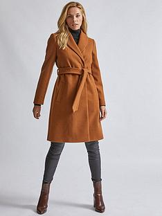 dorothy-perkins-shawl-wrap-coat-camel