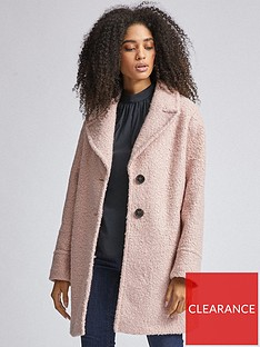 dorothy-perkins-boucle-coat-pink