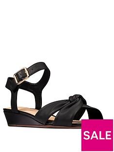 clarks-sense-strap-leather-low-wedge-sandal-blacknbsp