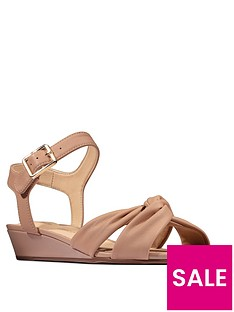 clarks-sense-strap-leather-low-wedge-sandal-beige