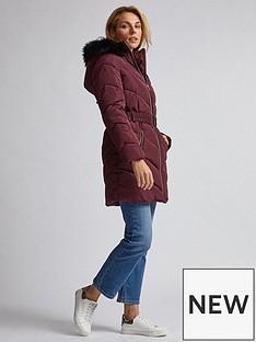 dorothy-perkins-dorothy-perkins-luxe-short-padded-jacket-burgundy