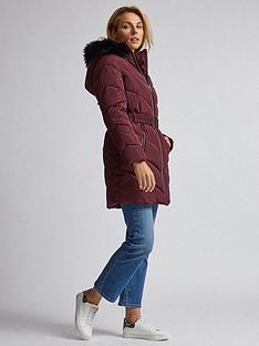 dorothy-perkins-luxe-short-padded-jacket-burgundy