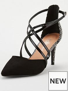 wallis-wide-fit-cross-strap-court-shoe-blacknbsp