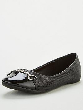 wallis-toe-cap-trim-ballerina-shoes-black