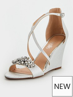 wallis-wallis-jewelled-front-strap-wedge