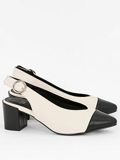 evans-wide-fit-flo-colour-block-slingback-blackwhite