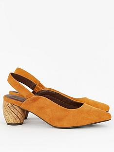 evans-wide-fit-freckle-slingback-wooden-heel-ochre