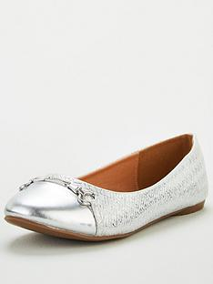 wallis-toe-cap-trim-ballerina-shoes-silver