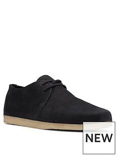 clarks-originals-ashton-leather-lace-up-flat-shoes-black