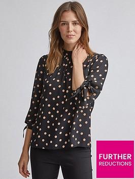 dorothy-perkins-spot-34-sleeve-top-black