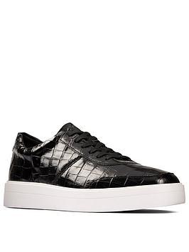 clarks-hero-walk-leather-trainer-black-croc