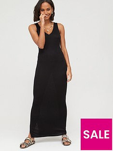 v-by-very-tall-v-neck-jersey-maxi-dress-black