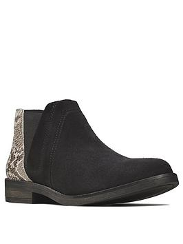 clarks-demi-beat-leather-ankle-boot-black-snake
