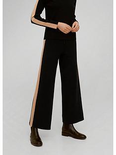mango-side-stripe-cropped-trousers-black