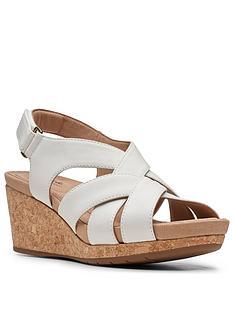 clarks-un-capri-step-leather-wedge-sandal-white