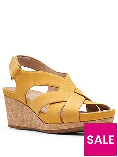 clarks-un-capri-step-leather-wedge-sandal-yellow
