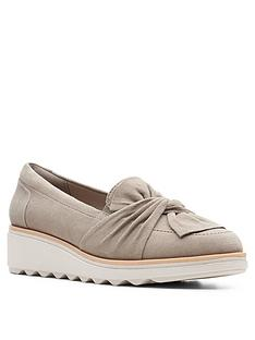clarks-sharon-dasher-leather-wedge-loafer-sage