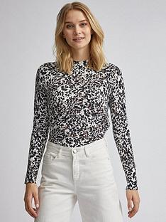 dorothy-perkins-high-neck-pattern-jumper-white