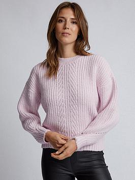 dorothy-perkins-dorothy-perkins-pontelle-stitch-jumper-pink