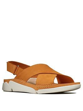 clarks-tri-alexia-leather-flat-sandal-ambernbsp