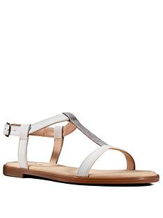 clarks-bay-rosa-leather-flat-t-bar-sandal-white