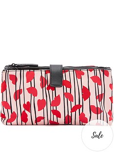 lulu-guinness-hearts-and-lips-stripe-nylon-double-pocket-cosmetic-bag-pink
