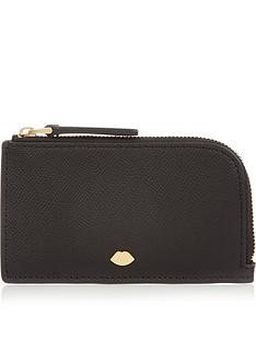 lulu-guinness-leah-lip-pin-top-zip-purse-black