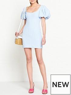 bec-bridge-anika-puff-sleeve-mini-dress-blue
