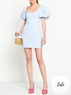 bec-bridge-anika-puff-sleeve-mini-dress-blue