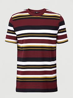 v-by-very-pique-horizontal-striped-short-sleeve-t-shirt-multi