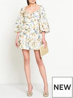 bec-bridge-fleurette-floral-print-puff-sleeve-mini-dress-cream