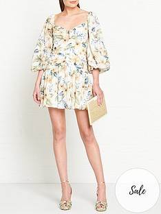 bec-bridge-fleurette-floral-print-puff-sleeve-mini-dress-cream