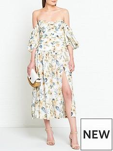 bec-bridge-fleurette-floral-print-off-shoulder-midi-dress-cream