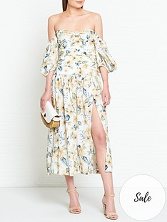 bec-bridge-fleurette-floral-print-off-shoulder-midi-dress-cream