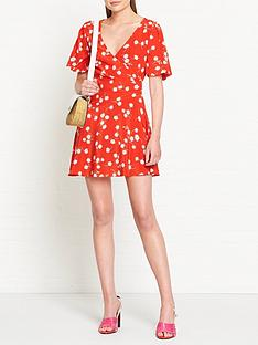 bec-bridge-white-daisy-silk-wrap-mini-dress-red