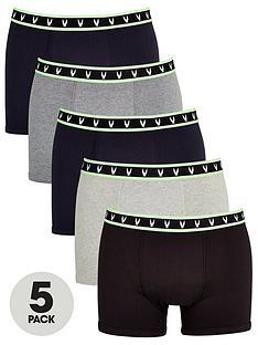 very-man-5-pack-fluoro-tipped-trunks-multi