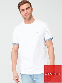 very-man-printed-paisley-turn-up-t-shirt-white