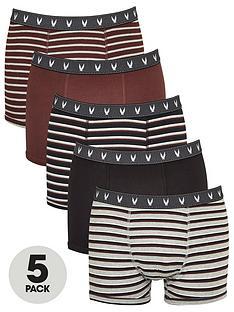 very-man-5-pack-fashion-stripe-trunks-burgundy