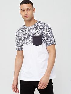 v-by-very-printed-beach-block-pocket-t-shirt-blackwhite