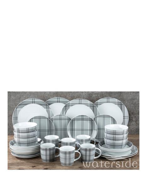 waterside-grey-tartan-30-piece-christmas-dinner-set