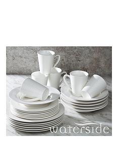 waterside-24-piece-white-embossed-linear-dinner-set
