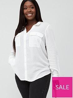 oasis-curve-viscose-dobby-shirt-off-white