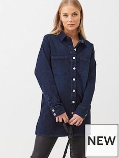 v-by-very-oversized-longline-denim-shirt-indigo