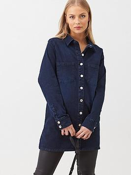 v-by-very-oversized-longline-denim-shirt-indigo